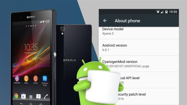 CyanogenMod 13 para  Xperia Z Android 6.0.1 MarshMallow