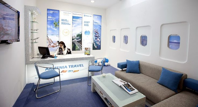 small travel agency office interior design