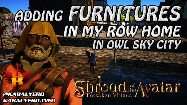 Adding Some Furnitures To My Row Home In Owl Sky City 🏠 Shroud of the Avatar Gameplay