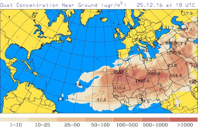 Nieve, calima, viento, lluvias, bajada temperaturas en Canarias por Navidad 2016