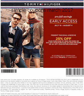 Tommy Hilfiger coupons march 2017