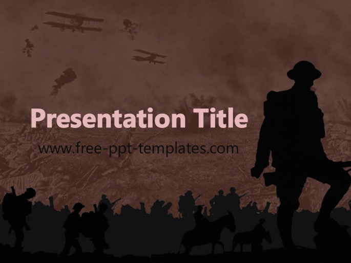 wwi ppt template, Modern powerpoint