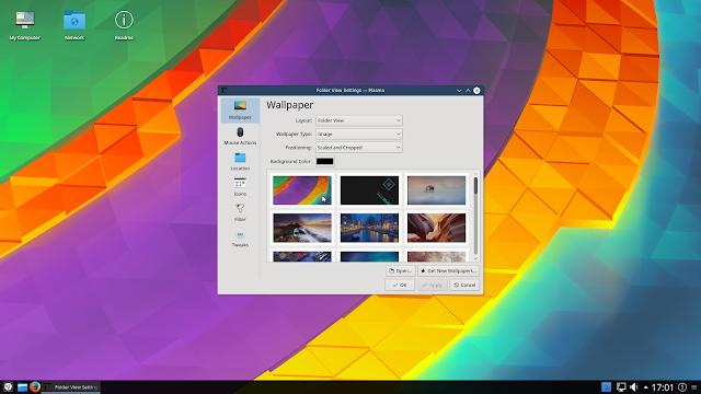 Netrunner Desktop 16.09 Avalon rodando o KDE 5.8.2 LTS