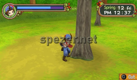 Menebang Pohon Game Harvest Moon Hero of Leaf Valley