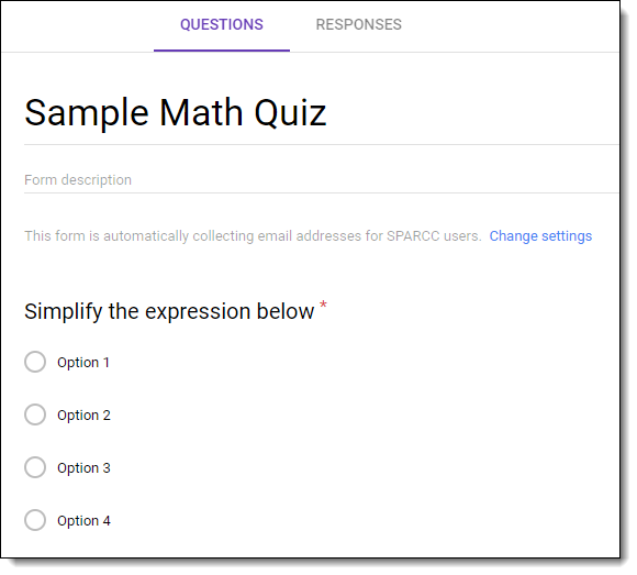 Control Alt Achieve Making Google Forms Quizzes With Math Free