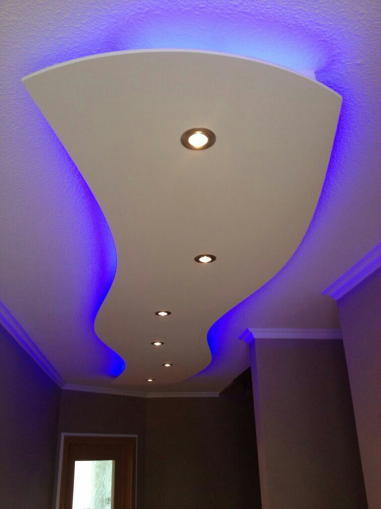 If you are looking for attractive accent design for your room or living area, try this ceiling design with different style and with hidden led light to make more attractive. LED lights bring magic effect and eye-catching creativity in modern design.