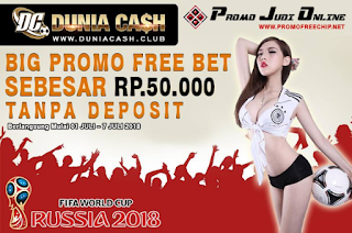 Promo DuniaCash Freebet Bola Tanpa Deposit