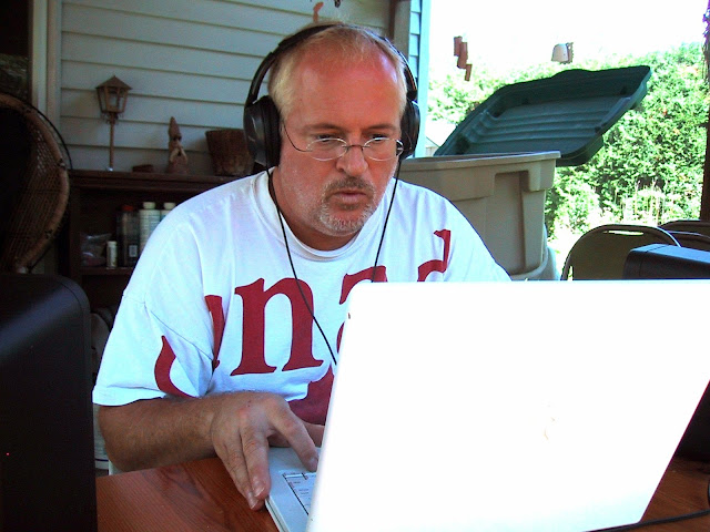 Pete composes music using Finale