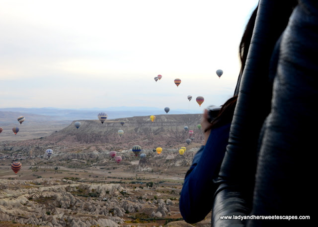 hot air balloon flights in Cappadocia