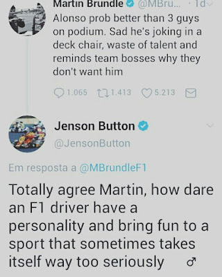 Martin Brundle started, Jenson Вutton
