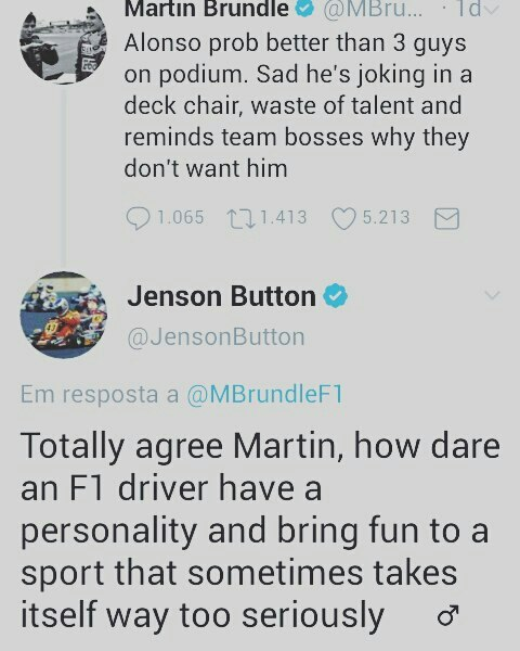 Martin Brundle started, Jenson Вutton