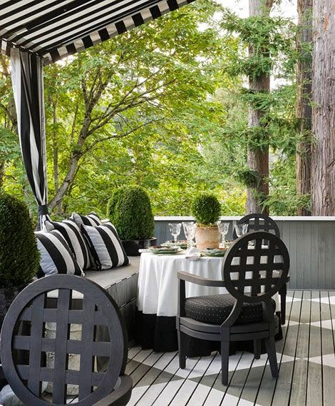 Style To Move Blog Black Amp White Outdoor Inspiration