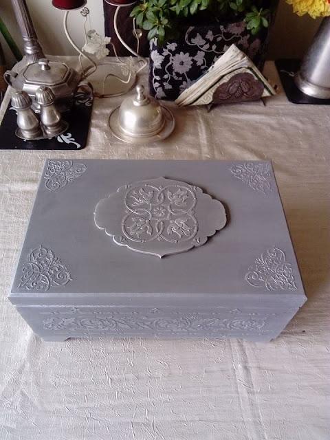 Inspiracje ze świata sztuki – szkatuła na biżuterię z ornamentami :)