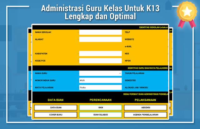 Administrasi Guru Kelas Untuk K13
