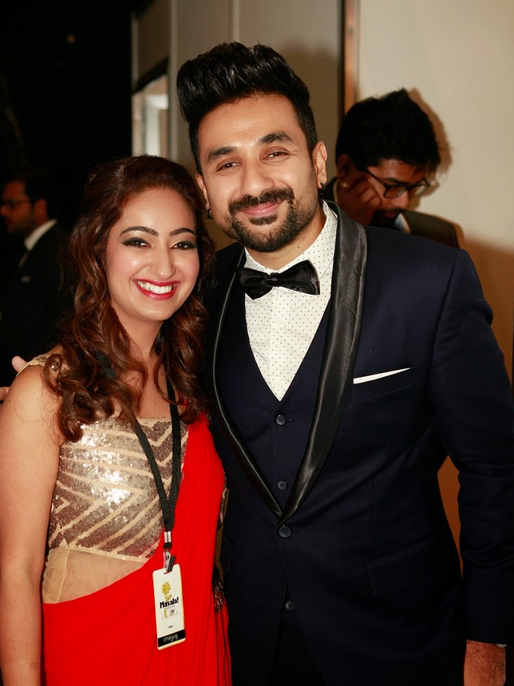 Taruna Sajnani with Vir Das, Masala! Awards 2014 Inside Pics