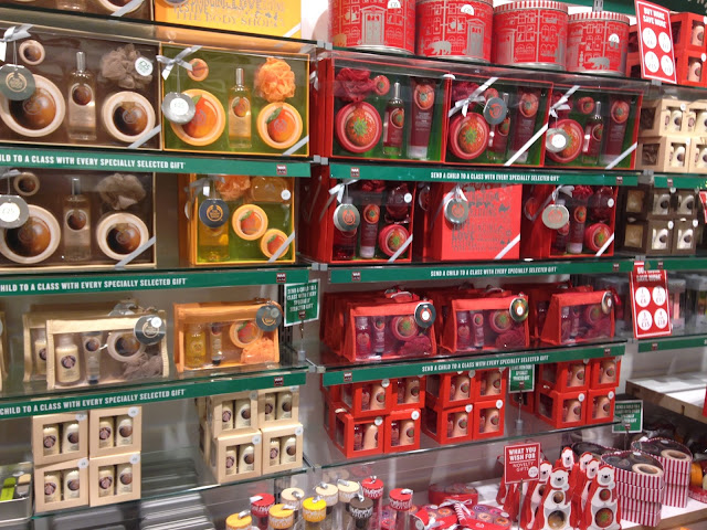 The Body Shop Meadowhall, The Body shop Christmas range