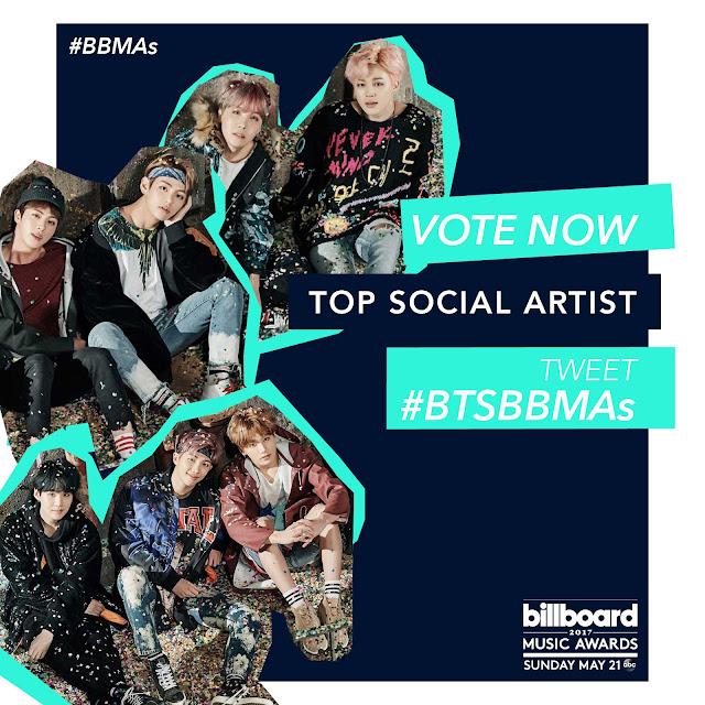 BTS para Top Social Artist #BTSBBMAs