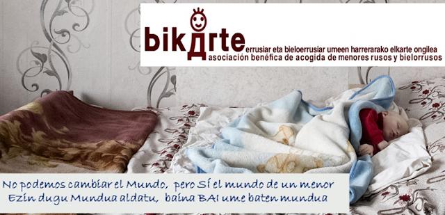 Cartel de la asociación Bikarte