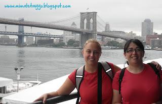 Puente de Brooklyn desde el Pier 17, NYC