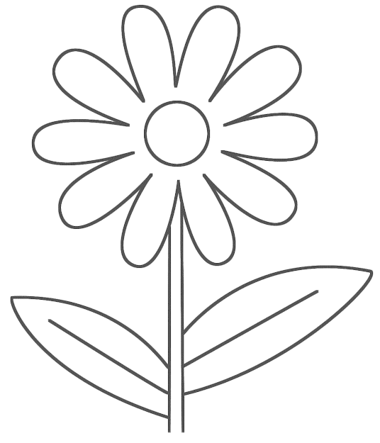 Easy Printable Flower Coloring Pages
