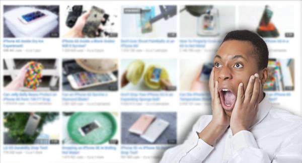 قناة على اليوتيوب تقوم باختبارات غير عادية لاخر الهواتف !!