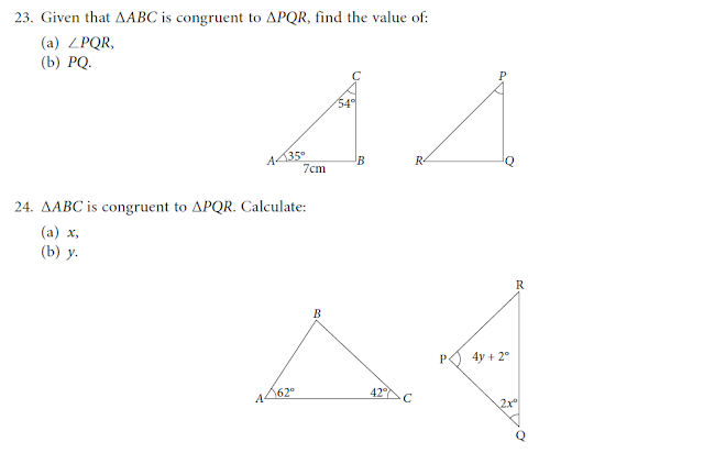 PRACTICE QUESTION(CONGRUENCE AND SIMILARITY) Learn