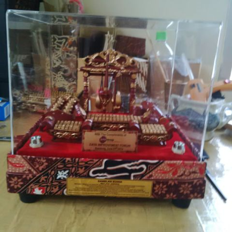 MINIATURE SHOP: Miniatur Gamelan Set Box Batik