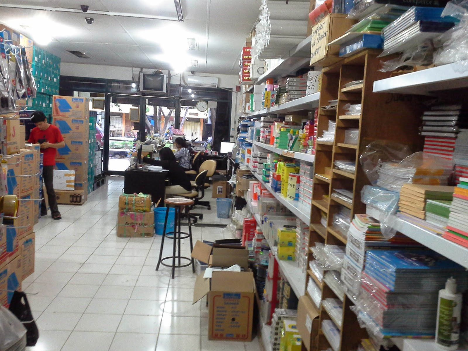 Toko stationery grosir dan Eceran sekitar Pasar Pagi -  Mangga Dua
