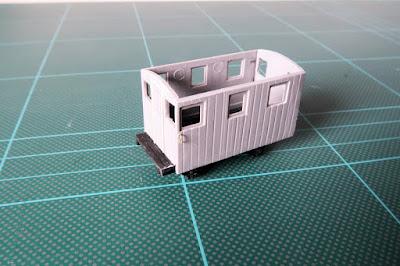 Converting a 009 Festiniog Railway quarrymans coach to a brake van.