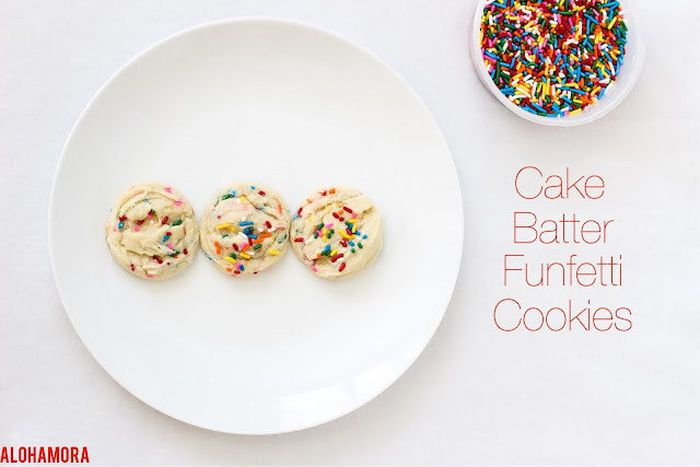Cake Batter Funfetti Sugar Cookies festive (change the sprinkles to fit the occasion or holiday), fun (who doesn't love sprinkles?), easy to make, and oh so delicious.  This recipe is all around the best.  Yummy. Simple. Alohamora Open a Book http://alohamoraopenabook.blogspot.com/