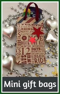Mini gift bags for Christmas tutorial