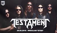 Testament - relacja z koncertu