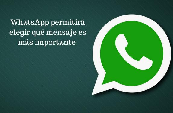 WhatsApp, App, funcionalidad, mensajería instantánea, elegir, mensaje, importancia