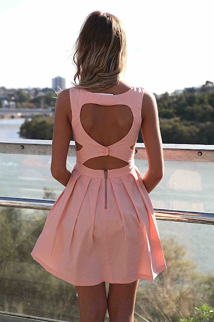Amazing, heart back cut out detail dress from Xenia