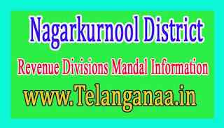 Nagarkurnool District Revenue Divisions Mandal Information