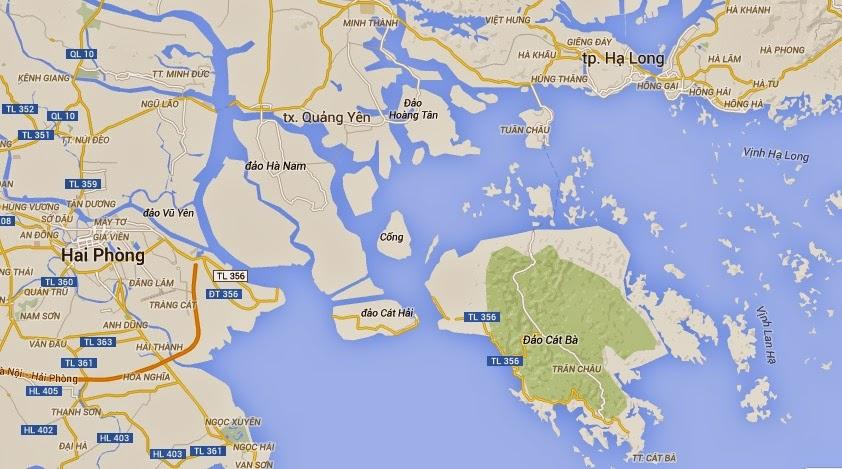 Mapa de Halong - guía para viajar a Vietnam