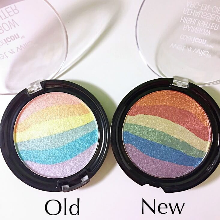 wet n wild coloricon Rainbow Highlighters Unicorn Glow vs Moonstone Mystique