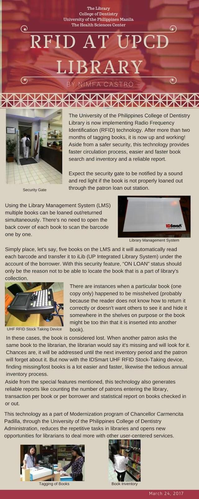 RFID at the UPCD LIBRARY