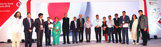 VODAFONE FOUNDATION ALONG WITH PRINCIPAL PARTNER  NASSCOM FOUNDATION ANNOUNCES WINNERS FOR   'MOBILE FOR GOOD AWARDS 2016'
