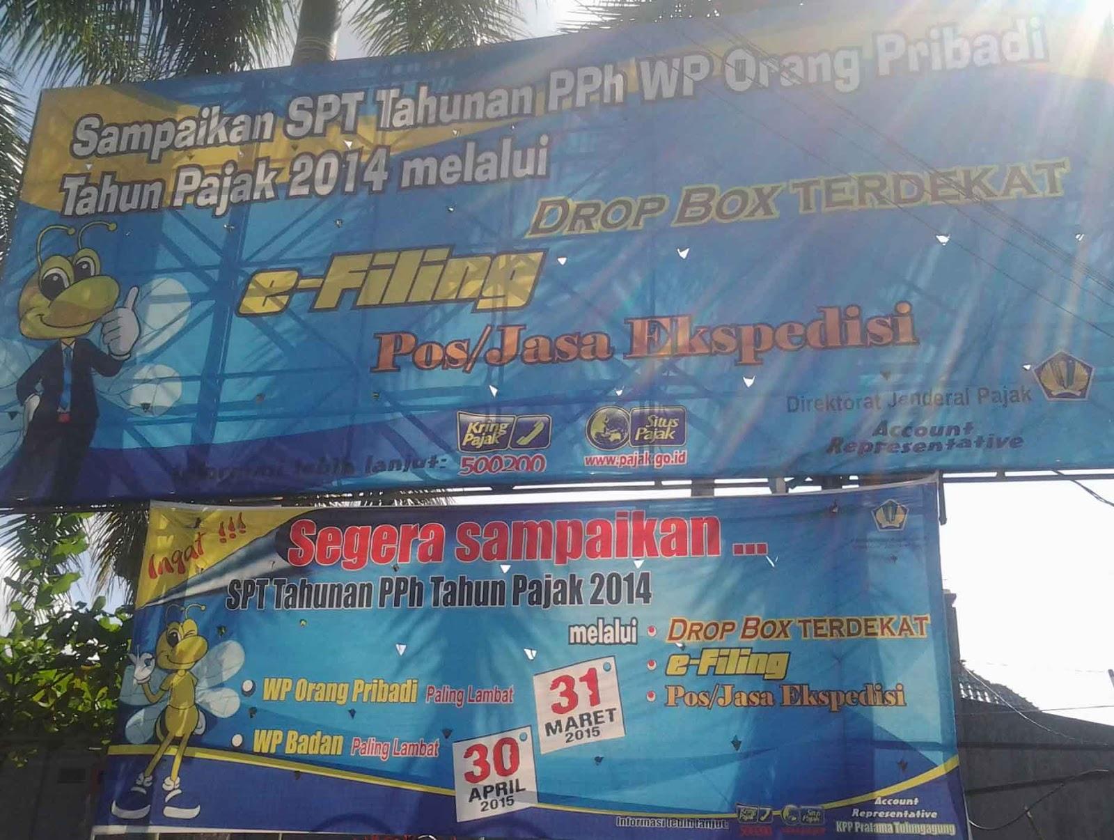 Poster Informasi Penyampaian Laporan SPT Taunan Wajib Pajak