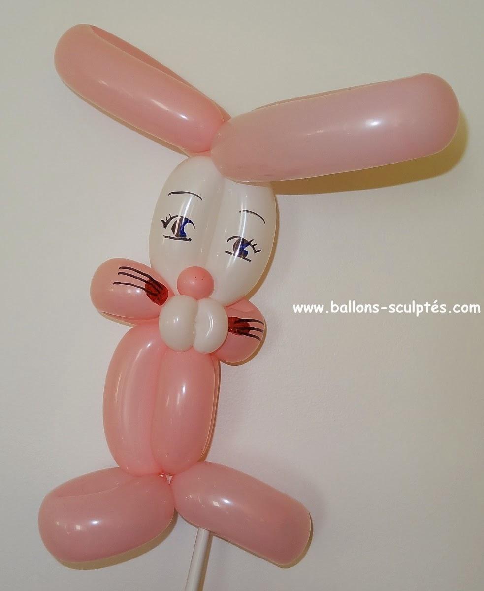 sculpture de ballons lapin