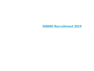NIBMG Recruitment 2019-at www.nibmg.ac.in 21 Database Manager & Other Vacancies | Online Application Form