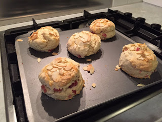 Cherry and almond scone