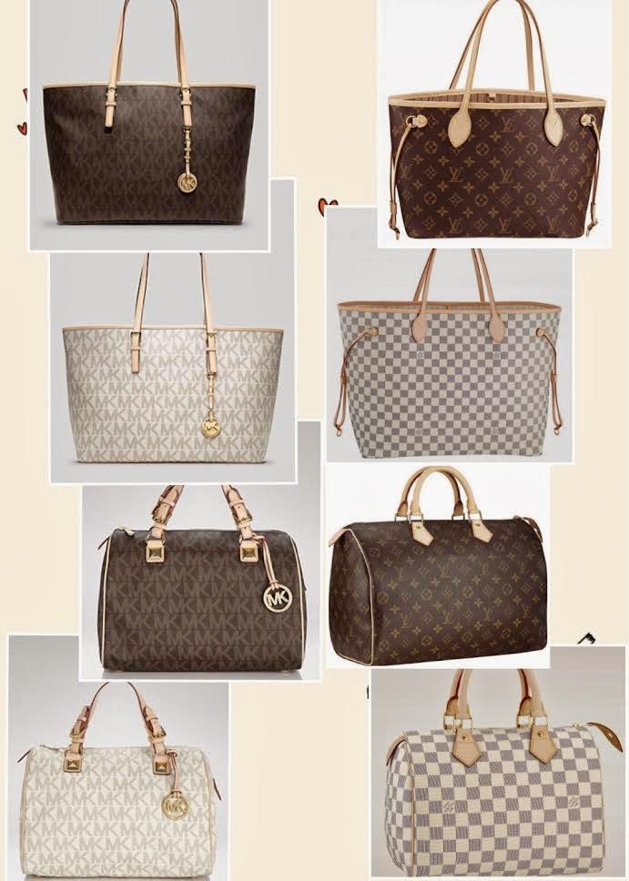 On The Left Michael Kors Handbags Right Louis Vuitton