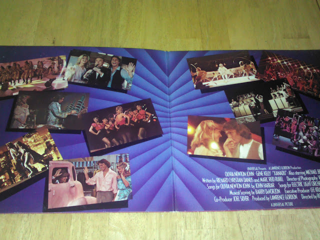 open interior gatefold of Xanadu 1980 soundtrack album