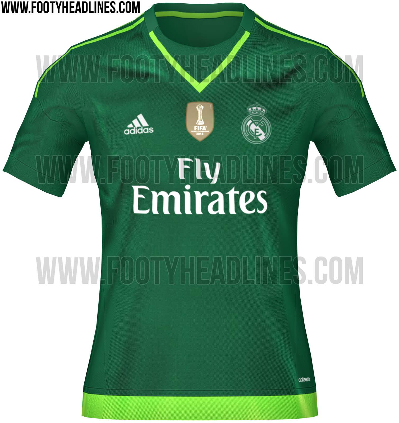 Real madrid kit 15 16 goalkeeper game