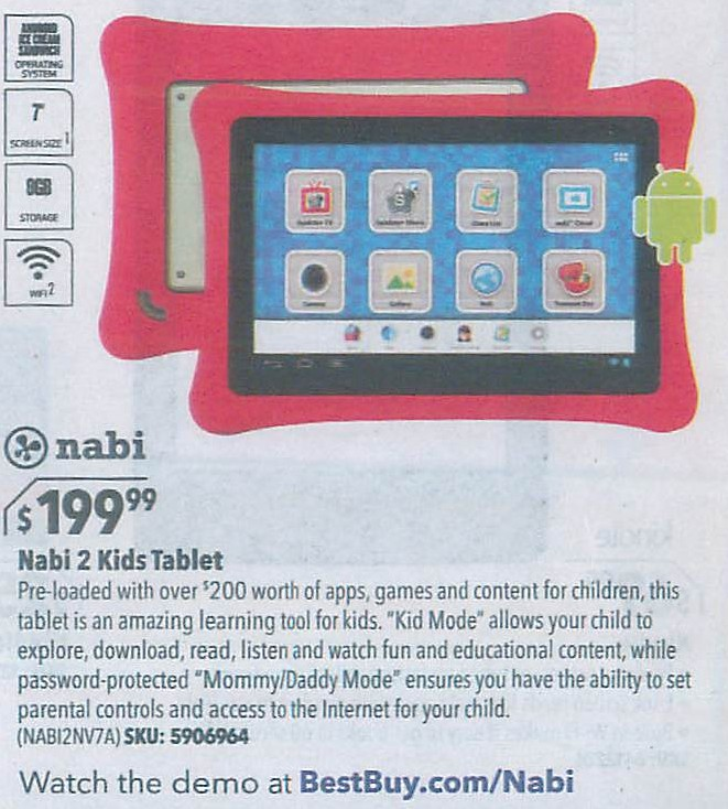 Nabi 2 tablet support / Balti indian food
