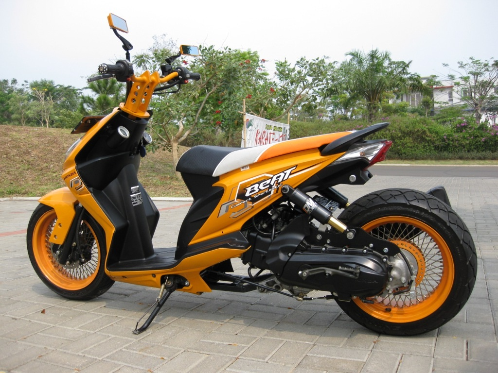 Top Modifikasi Motor Honda Beat Karbu Terbaru