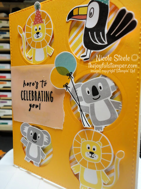 kid's birthday card | Stampin' Up!'s Birthday Bonanza Designer Series paper | Nicole Steele The Joyful Stamper