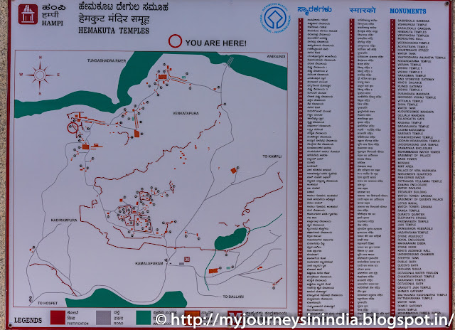 Hampi Map of Tourist places